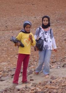 Deux petites filles marocaines